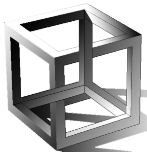 Cube de Escher, figure impossible